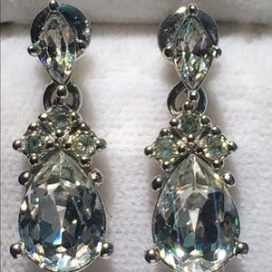 Vintage CHRISTIAN DIOR Pierced Dangle Earrings